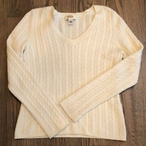 Talbots Petites size small soft cream sweater!